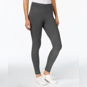 Style & Co Gray Mid-Rise Pull-On Leggings